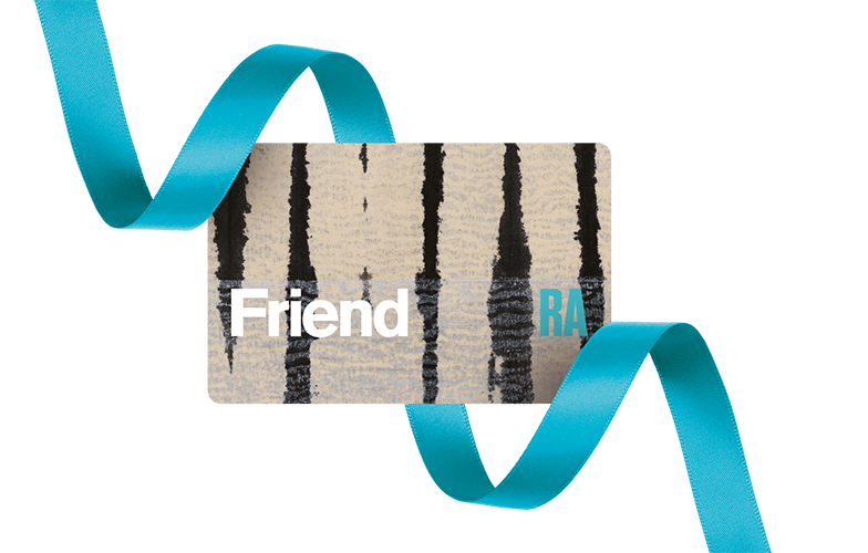RA membership card and ribbon