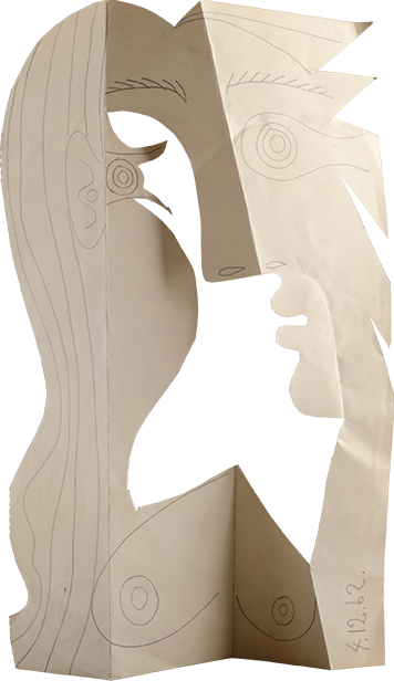 Picasso paper cutout